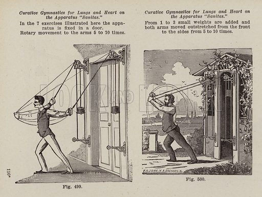 Gymnastic Apparatus. Illustration for Bilz, The Natural Method of Healing (c 1888).