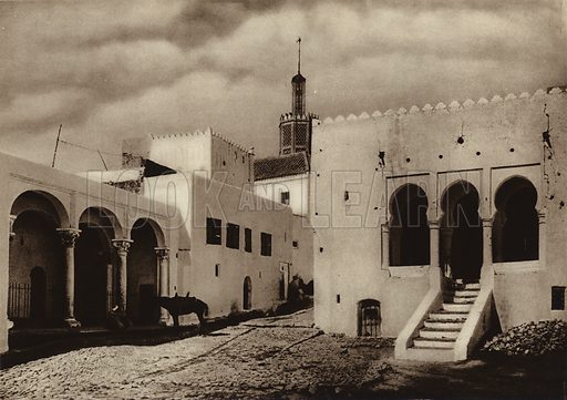 Tangiers, Treasure House and Tribunal. Illustration for Picturesque North Africa (Jarrolds, c 1925).  First published by Ernst Wasmuth, Berlin, 1925.  Gravure-printed. Photo credit: Lehnert and Landrock, Cairo.