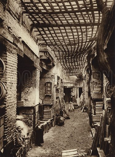 Fez, Carpenters' Bazar. Illustration for Picturesque North Africa (Jarrolds, c 1925).  First published by Ernst Wasmuth, Berlin, 1925.  Gravure-printed. Photo credit: Photo-Flandrin Casablanca.