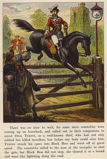 Illustration for Dick Turpin in the Bow Bells Nursery Tales series (J Dicks, c 1870).