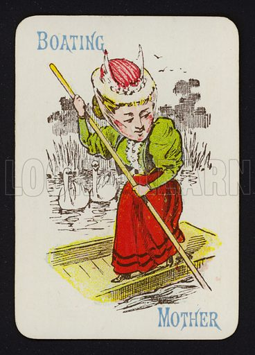 Playing card: Boating, Mother