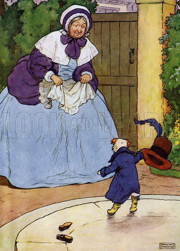 Illustration for Old Mother Hubbard (Blackie, c 1915).