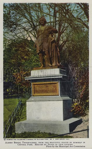 Albert Bertel Thorwaldsen, from the beautiful statue by himself in Central Park