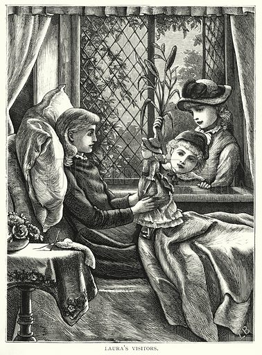 Laura's visitors. Illustration for Our Picture Book (S W Partridge, c 1870).