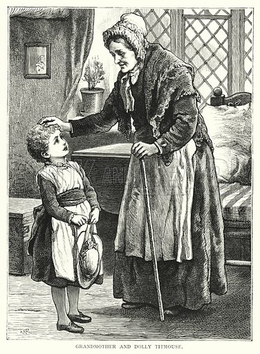 Grandmother and Dolly Titmouse. Illustration for Our Picture Book (S W Partridge, c 1870).