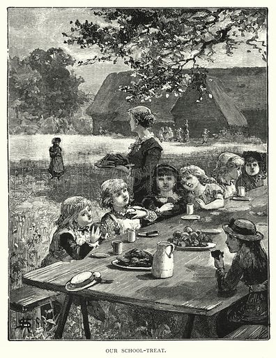 Our school-treat. Illustration for Our Picture Book (S W Partridge, c 1870).