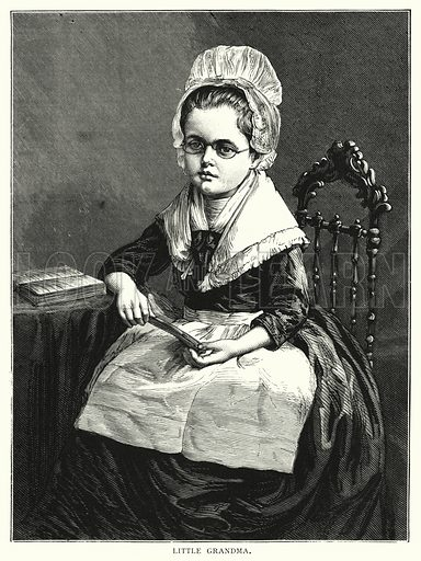 Little grandma. Illustration for Our Picture Book (S W Partridge, c 1870).