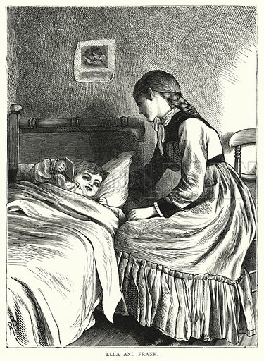 Ella and Frank. Illustration for Our Picture Book (S W Partridge, c 1870).