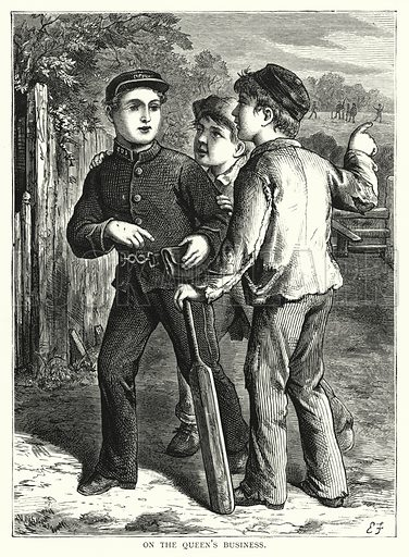 On the queen's business. Illustration for Our Picture Book (S W Partridge, c 1870).