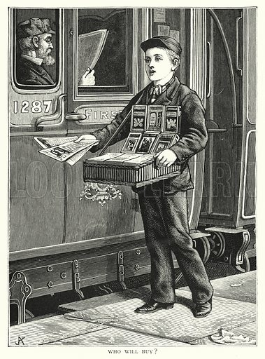Who will buy? Illustration for Our Picture Book (S W Partridge, c 1870).