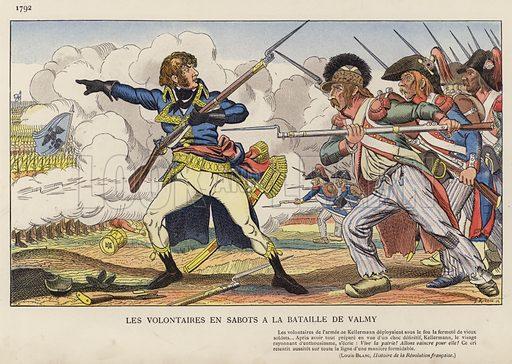 Les Volontaires En Sabots A La Bataille De Valmy, 1792. Illustration for Nos Soldats du Siecle by Caran D'Ache (E Plon, c 1900).
