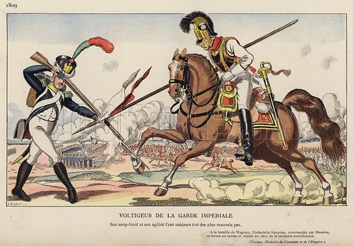 Voltigeur De La Garde Imperiale, 1809. Illustration for Nos Soldats du Siecle by Caran D'Ache (E Plon, c 1900).