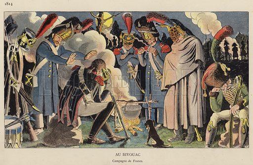 Au Bivouac, 1814. Illustration for Nos Soldats du Siecle by Caran D'Ache (E Plon, c 1900).