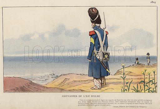 Grenadier De L'Ile D'Elbe, 1814. Illustration for Nos Soldats du Siecle by Caran D'Ache (E Plon, c 1900).
