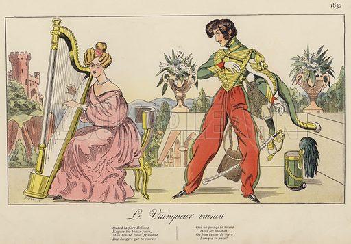 Le Vainqueur vaincu, 1830. Illustration for Nos Soldats du Siecle by Caran D'Ache (E Plon, c 1900).