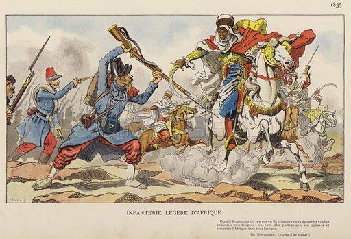 Infanterie Legere D'Afrique, 1835. Illustration for Nos Soldats du Siecle by Caran D'Ache (E Plon, c 1900).