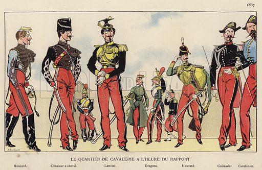 Le Quartier De Cavalerie A L'Heure Du Rapport, 1867. Illustration for Nos Soldats du Siecle by Caran D'Ache (E Plon, c 1900).