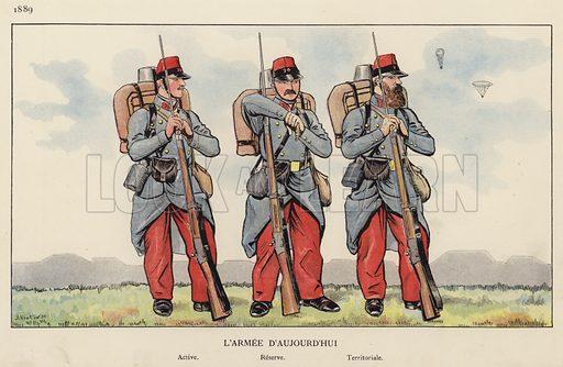 L'Armee D'Aujourd'hui, 1889. Illustration for Nos Soldats du Siecle by Caran D'Ache (E Plon, c 1900).