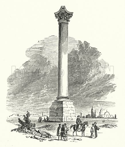 Pompey's Pillar. Illustration for Our Parlour Panorama by Mrs George Cupples (T Nelson, 1882).