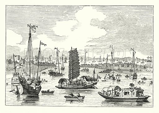 A celebrated river. Illustration for Our Parlour Panorama by Mrs George Cupples (T Nelson, 1882).