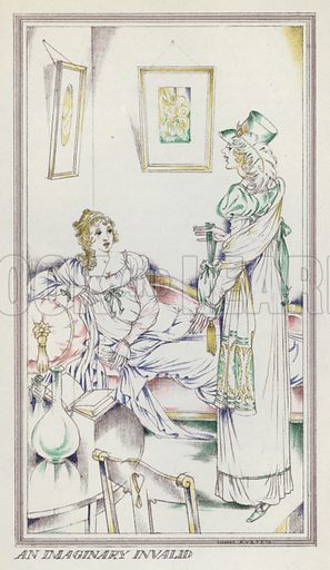 An imaginary invalid. Illustration for Persuasian by Jane Austen (Book Society, 1944).