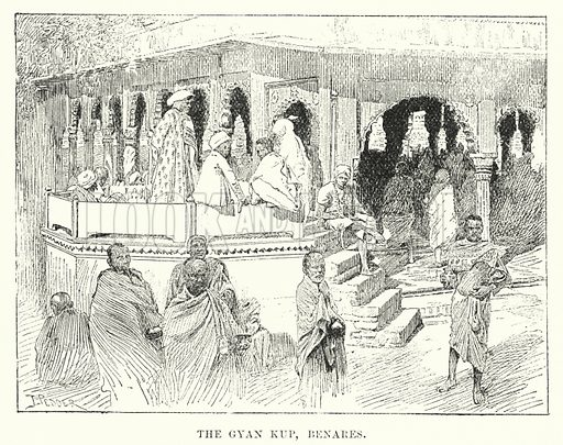 The Gyan Kup, Benares. Illustration for Picturesque India, A Handbook for European Travellers (George Routledge, 1898).  Illustrations drawn by John Pedder (1850-1929), H Sheppard Dale (1852-1921), and H H Stanton (fl 1880-1905).