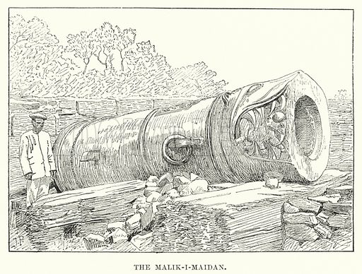 The Malik-i-Maidan. Illustration for Picturesque India, A Handbook for European Travellers (George Routledge, 1898).  Illustrations drawn by John Pedder (1850-1929), H Sheppard Dale (1852-1921), and H H Stanton (fl 1880-1905).