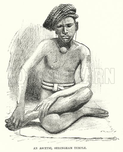 An Ascetic, Seringham Temple. Illustration for Picturesque India, A Handbook for European Travellers (George Routledge, 1898).  Illustrations drawn by John Pedder (1850-1929), H Sheppard Dale (1852-1921), and H H Stanton (fl 1880-1905).