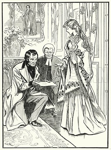 Princess Victoria hears that she is queen. Illustration for A Play-Book of History by Mrs A A Whiddington (Blackie, c 1911).