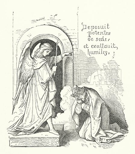 The Haughty King. Illustration for The Old Story-Teller, Popular German Tales collected by Ludwig Bechstein, with illustrations by Richter (Addey, 1854).