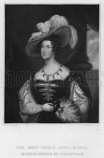 Anna Maria, Marchioness of Tavistock. Illustration for Churton's Portrait and Landscape Gallery (2nd series, E Churton, 1839).