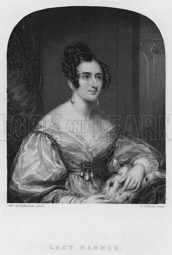 Lady Hanmer. Illustration for Churton's Portrait and Landscape Gallery (2nd series, E Churton, 1839).