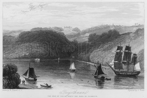 Tregothnan, the seat of the Earl of Falmouth. Illustration for Churton