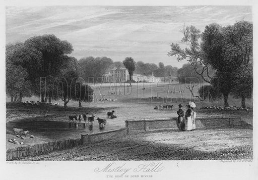 Mistley Hall, the seat of Lord Rivers. Illustration for Churton's Portrait and Landscape Gallery (2nd series, E Churton, 1839).