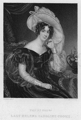 Lady Helena Caroline Cooke. Illustration for Churton's Portrait and Landscape Gallery (2nd series, E Churton, 1839).