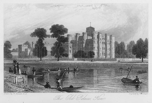 The Old Palace, Ken. Illustration for Churton's Portrait and Landscape Gallery (2nd series, E Churton, 1839).