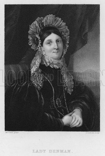 Lady Denman. Illustration for Churton's Portrait and Landscape Gallery (2nd series, E Churton, 1839).
