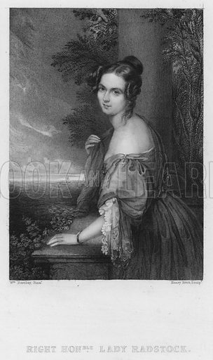 Lady Radstock. Illustration for Churton's Portrait and Landscape Gallery (2nd series, E Churton, 1839).