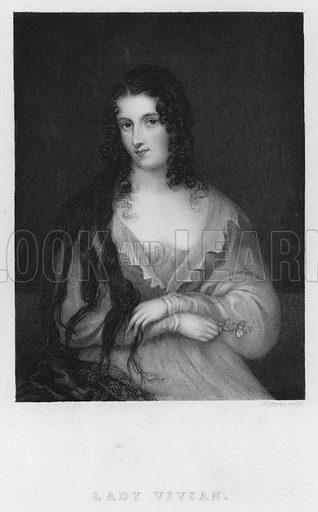 Lady Vivian. Illustration for Churton's Portrait and Landscape Gallery (2nd series, E Churton, 1839).