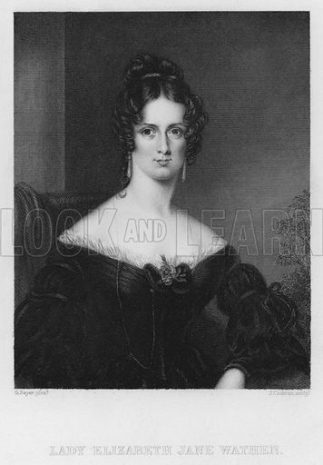Lady Elizabeth Jane Wathen. Illustration for Churton's Portrait and Landscape Gallery (2nd series, E Churton, 1839).