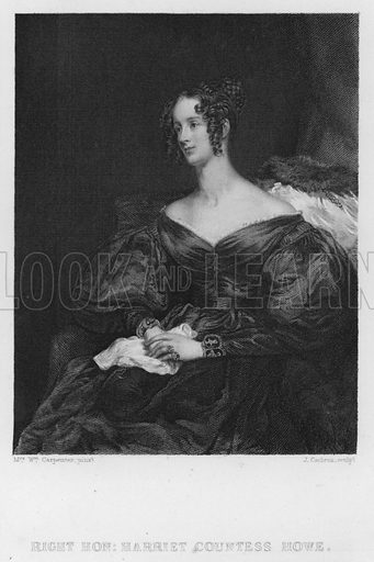 Harriet Countess Howe. Illustration for Churton's Portrait and Landscape Gallery (2nd series, E Churton, 1839).