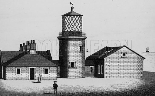 Bull Lighthouse, near Ilfracombe. Illustration for a booklet of views of Ilfracombe and North Devon (Charles Reynolds, c 1895).