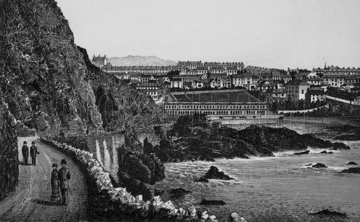 Ilfracombe from the Capstone Parade. Illustration for a booklet of views of Ilfracombe and North Devon (Charles Reynolds, c 1895).