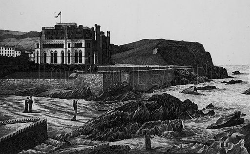 Wildersmouth and Hotel, Ilfracombe. Illustration for a booklet of views of Ilfracombe and North Devon (Charles Reynolds, c 1895).