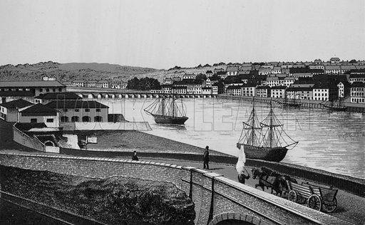 Bideford. Illustration for a booklet of views of Ilfracombe and North Devon (Charles Reynolds, c 1895).