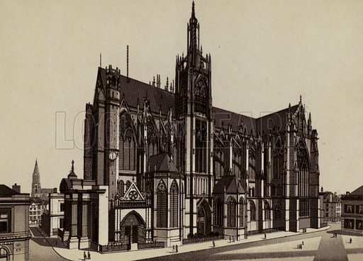 Kathedrale. Illustration for a booklet of views of Metz with German captions (P Muller, c 1890).
