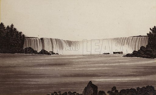 Horse Shoe Fall from Canada. Illustration for Tugby's Illustrated Guide to Niagara Falls (1889).