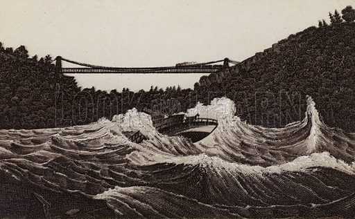 Maid of the Mist in Whirlpool Rapids. Illustration for Tugby's Illustrated Guide to Niagara Falls (1889).