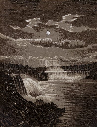 General View from New Suspension Bridge. Illustration for Tugby's Illustrated Guide to Niagara Falls (1889).