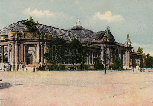 Le Grand Palais, The Great Palace. Illustration for Souvenir de Paris, Photographies en Couleurs (LIP, c 1914).